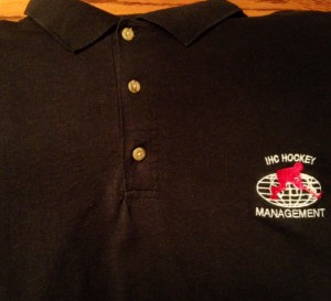 ihc hockey mgmt golf shirt